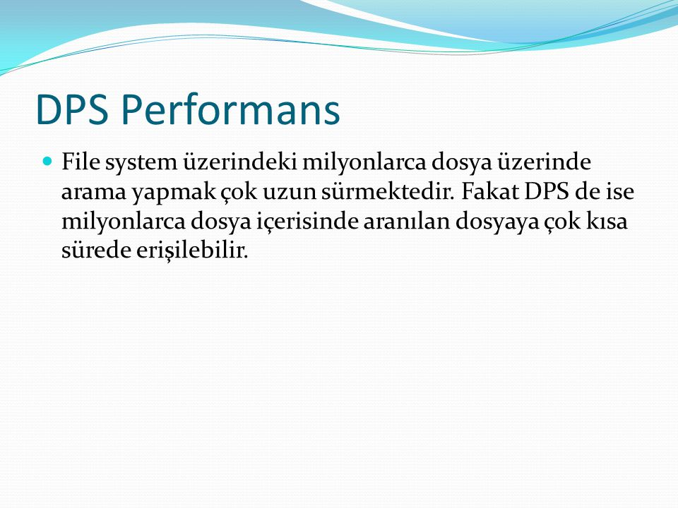 DPS Performans