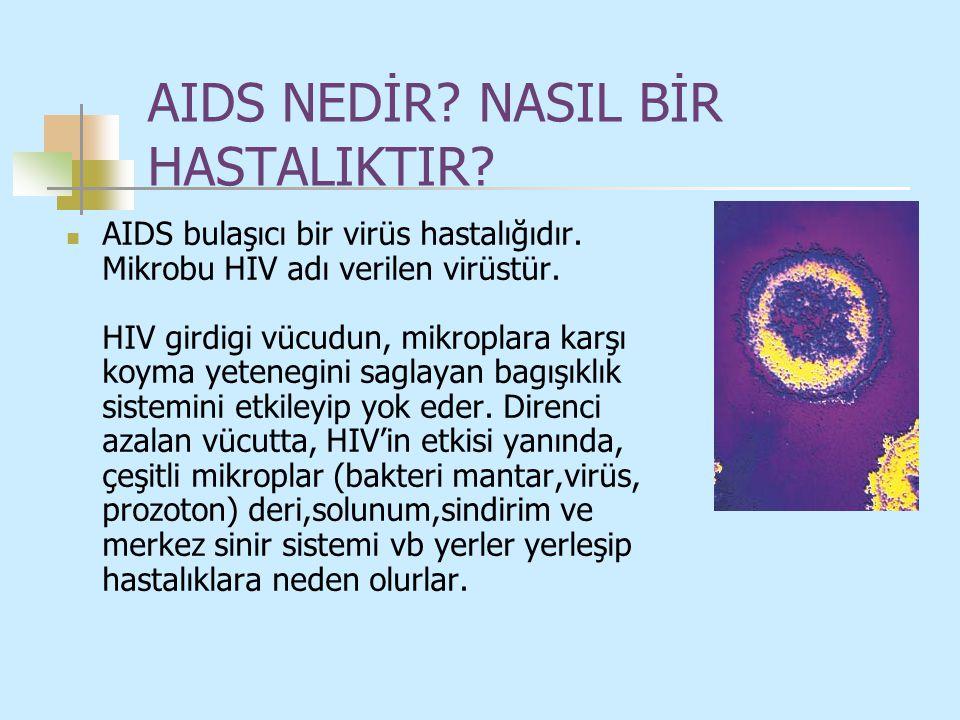 AIDS NEDİR NASIL BİR HASTALIKTIR