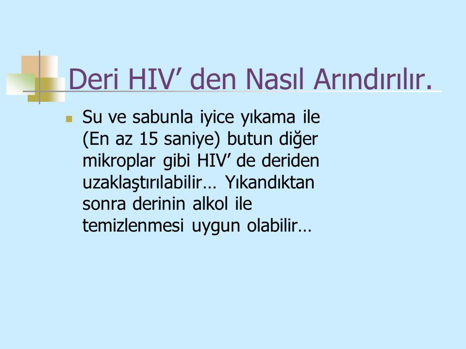 Deri HIV' den Nasıl Arındırılır.