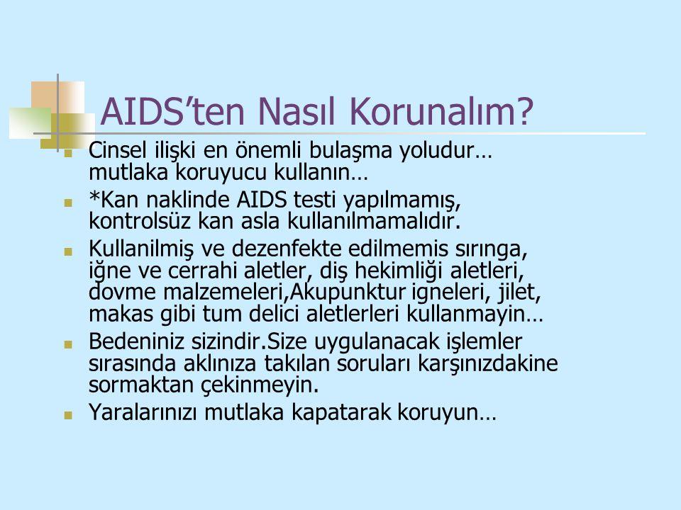AIDS'ten Nasıl Korunalım