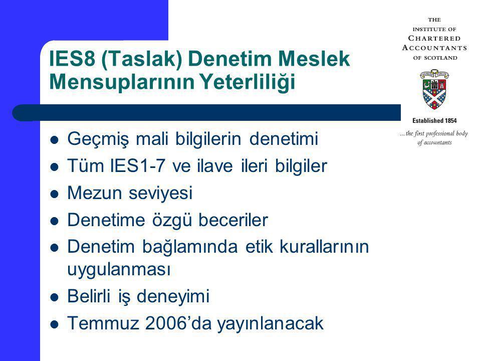 IES8 (Taslak) Denetim Meslek Mensuplarının Yeterliliği