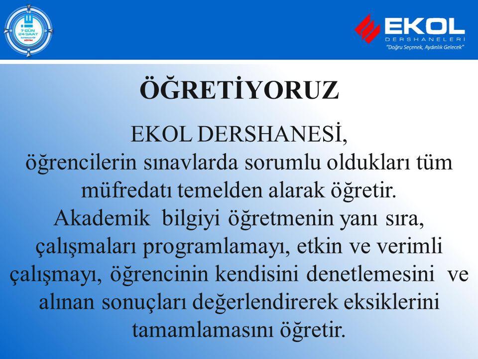 ÖĞRETİYORUZ EKOL DERSHANESİ,