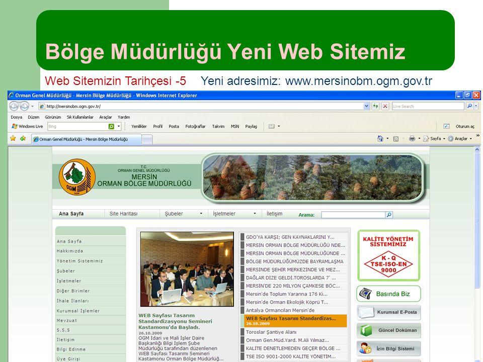 Bölge Müdürlüğü Yeni Web Sitemiz