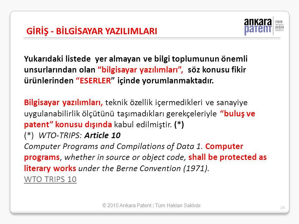© 2010 Ankara Patent | Tüm Hakları Saklıdır.