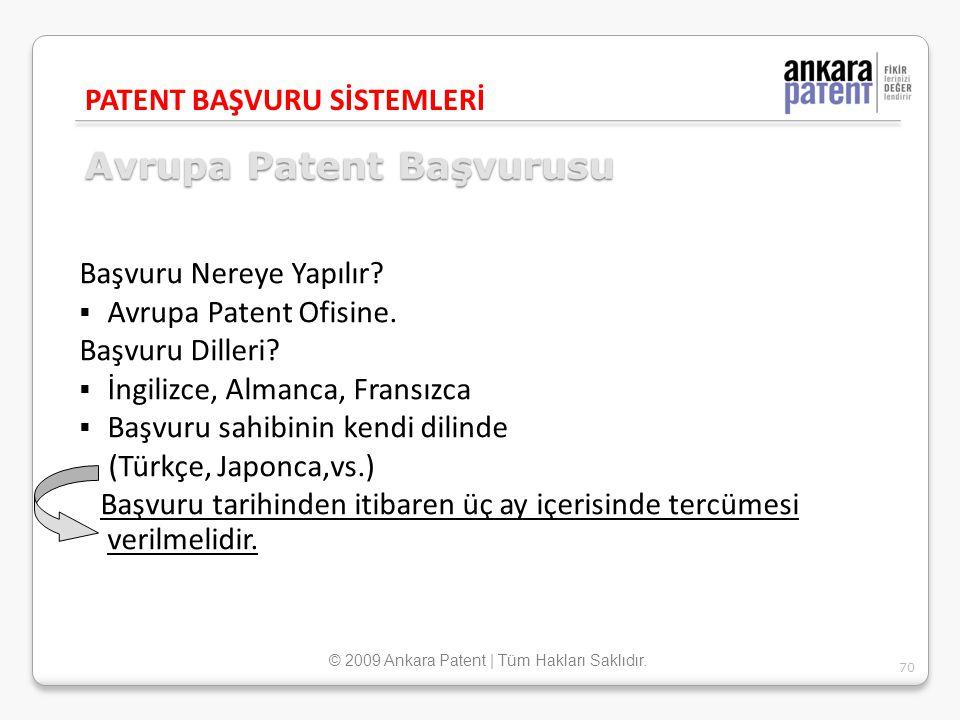 Avrupa Patent Başvurusu