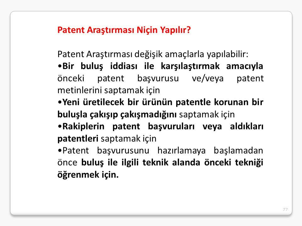 Patent Araştırması Niçin Yapılır