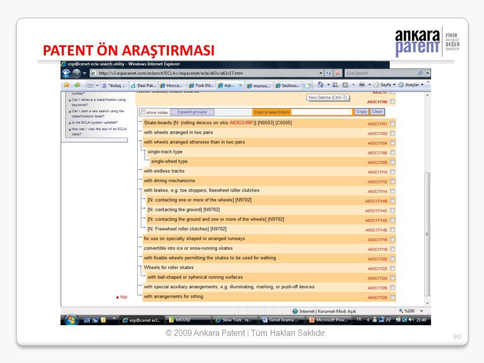 © 2009 Ankara Patent | Tüm Hakları Saklıdır.