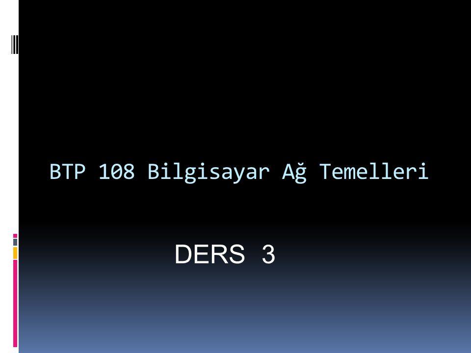 BTP 108 Bilgisayar Ağ Temelleri