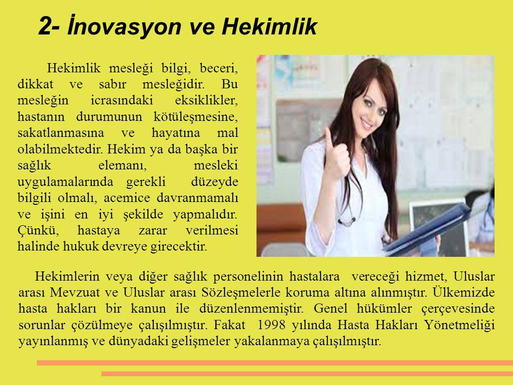 2- İnovasyon ve Hekimlik
