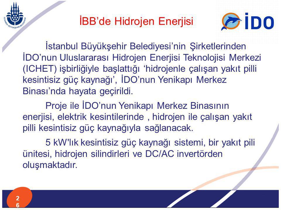 İBB'de Hidrojen Enerjisi
