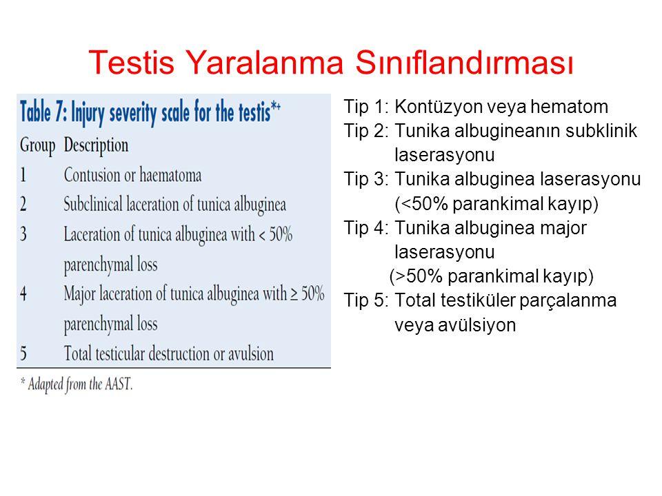 Testis Yaralanma Sınıflandırması