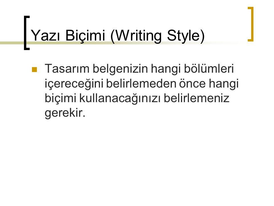 Yazı Biçimi (Writing Style)