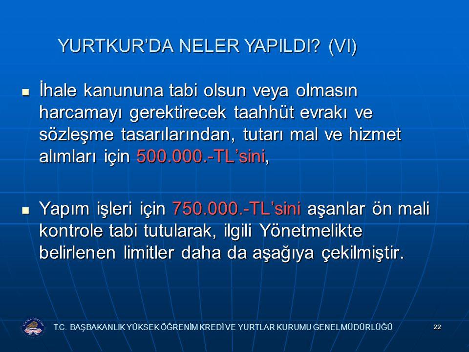 YURTKUR'DA NELER YAPILDI (VI)