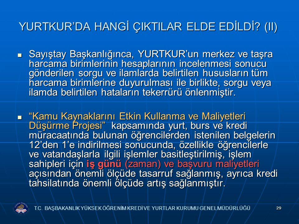 YURTKUR'DA HANGİ ÇIKTILAR ELDE EDİLDİ (II)