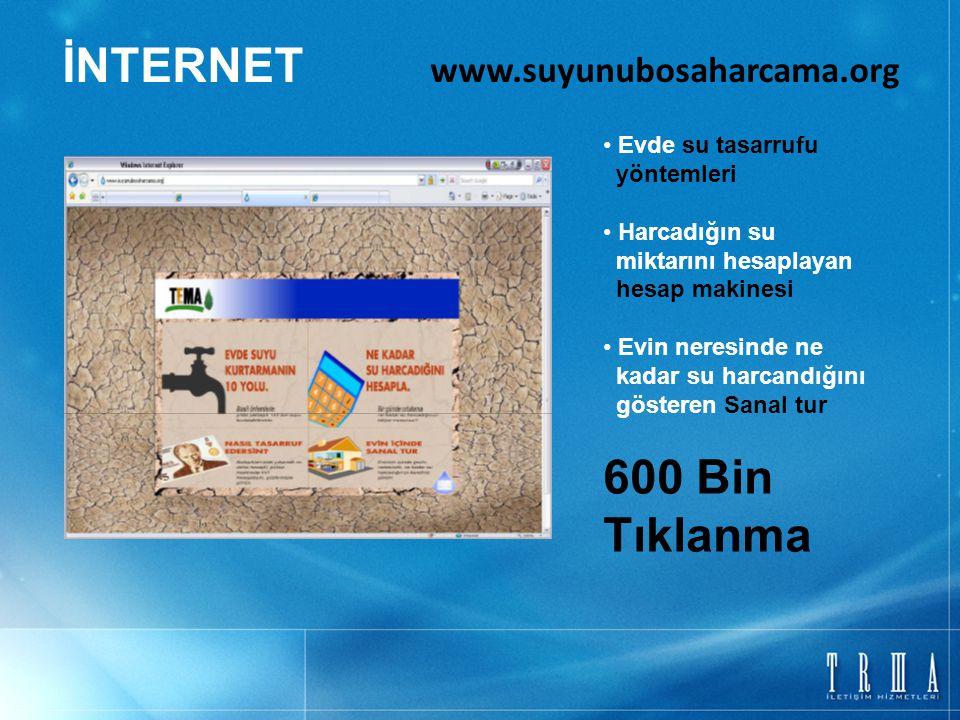 İNTERNET www.suyunubosaharcama.org