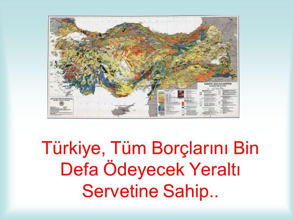 Türkiye, Tüm Borçlarını Bin Defa Ödeyecek Yeraltı Servetine Sahip..