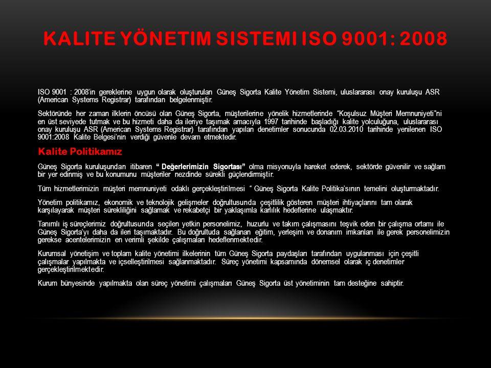 Kalite Yönetim Sistemi ISO 9001: 2008