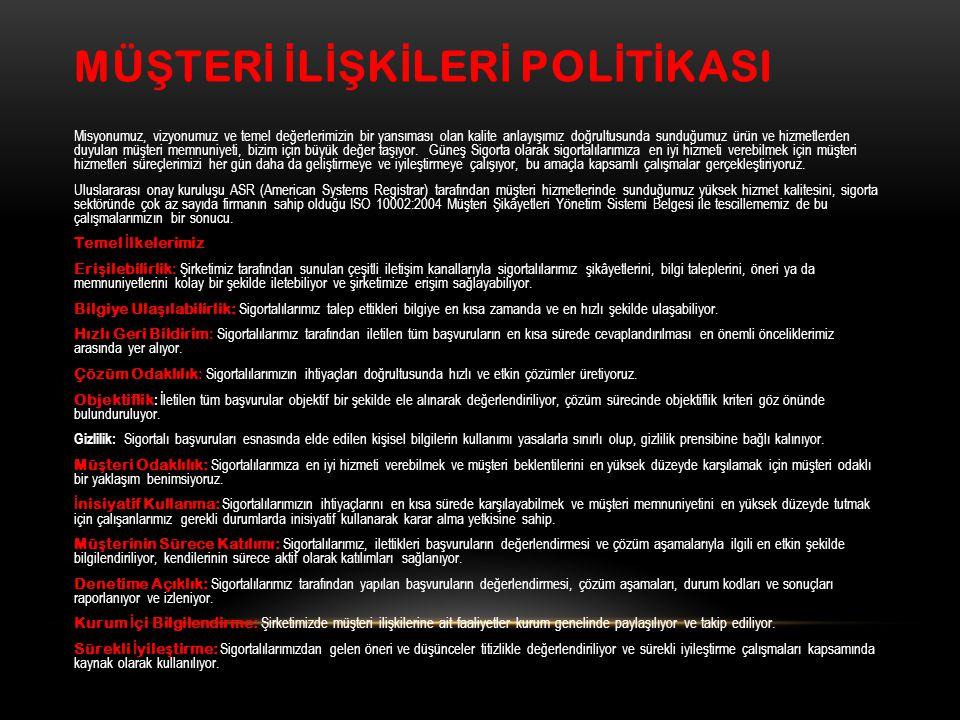 MÜŞTERİ İLİŞKİLERİ POLİTİKASI