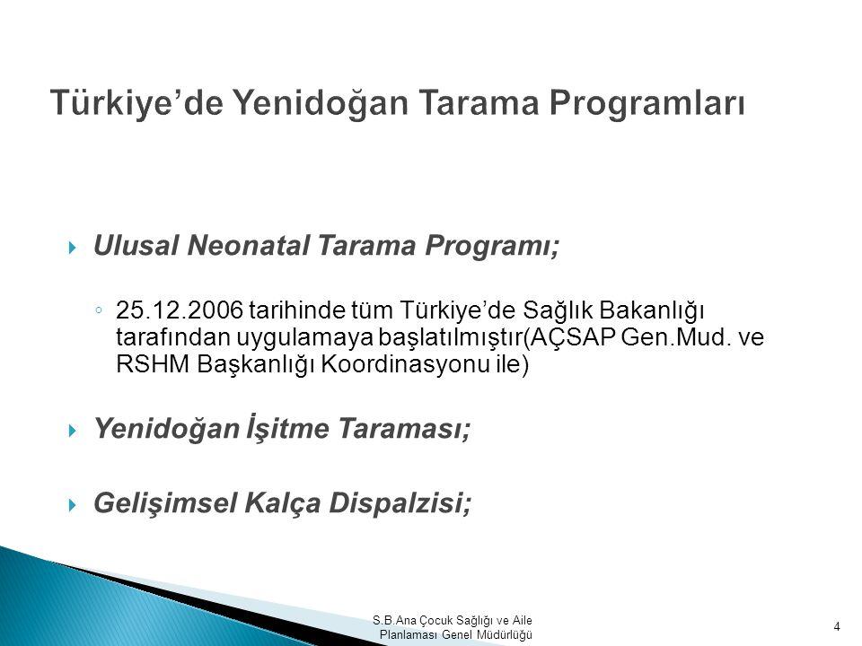 Türkiye'de Yenidoğan Tarama Programları
