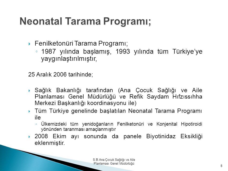 Neonatal Tarama Programı;