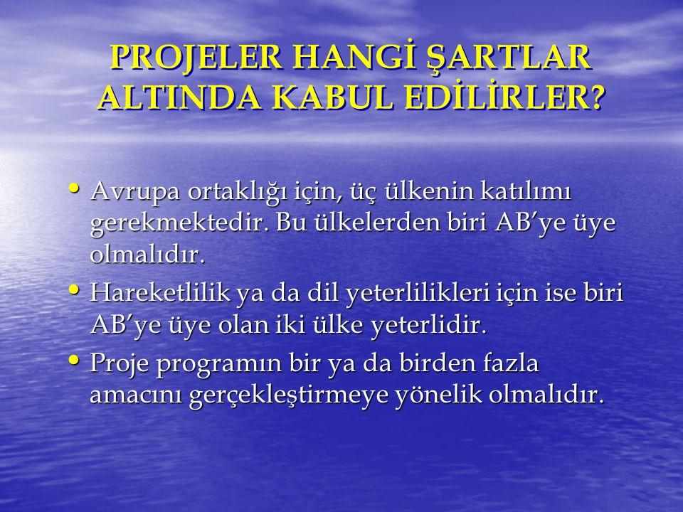 PROJELER HANGİ ŞARTLAR ALTINDA KABUL EDİLİRLER