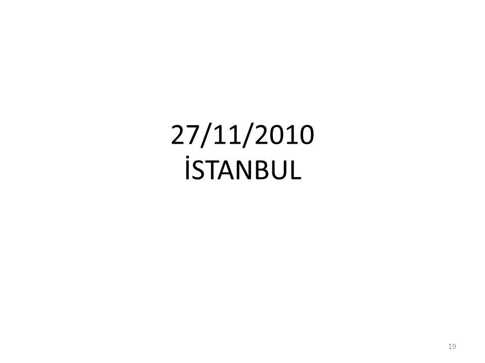 27/11/2010 İSTANBUL