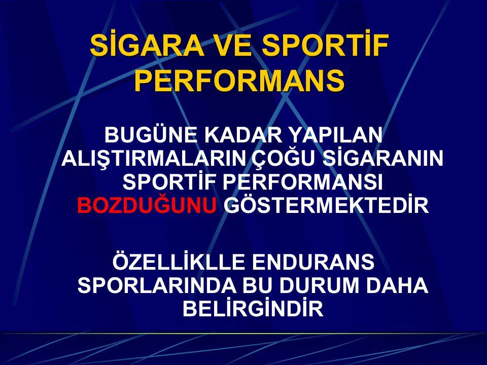 SİGARA VE SPORTİF PERFORMANS