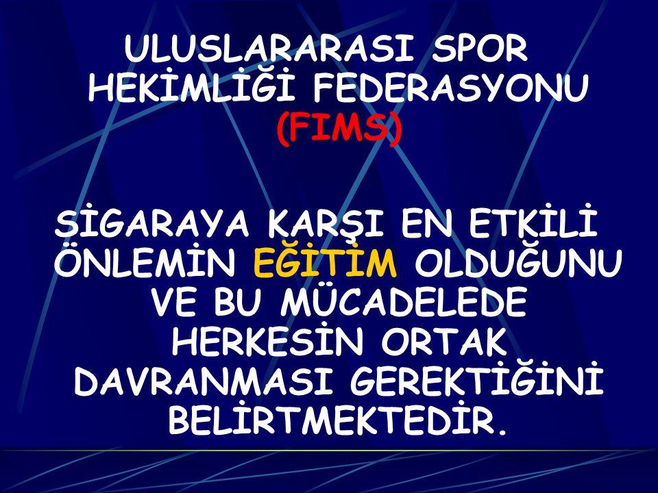 ULUSLARARASI SPOR HEKİMLİĞİ FEDERASYONU (FIMS)