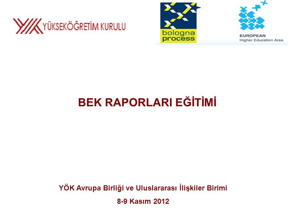 YÖK Avrupa Birliği ve Uluslararası İlişkiler Birimi