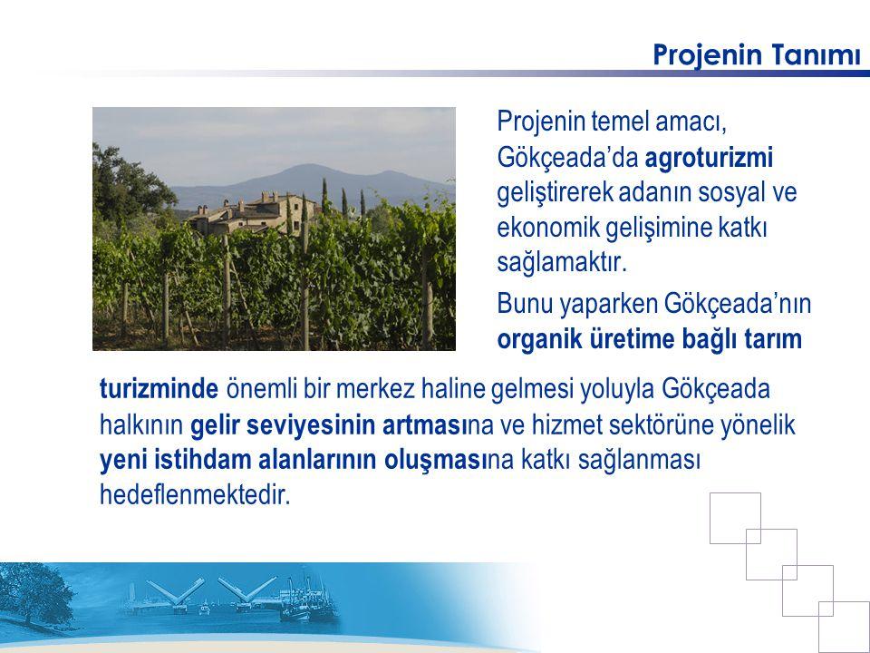Projenin Tanımı Projenin temel amacı, Gökçeada'da agroturizmi geliştirerek adanın sosyal ve ekonomik gelişimine katkı sağlamaktır.