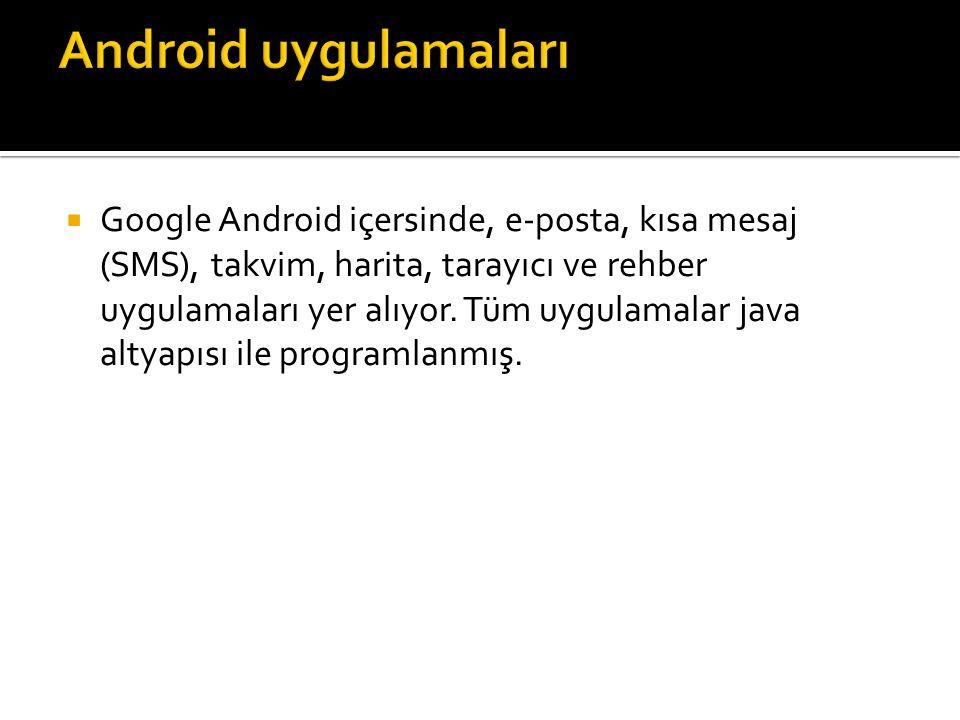 Android uygulamaları