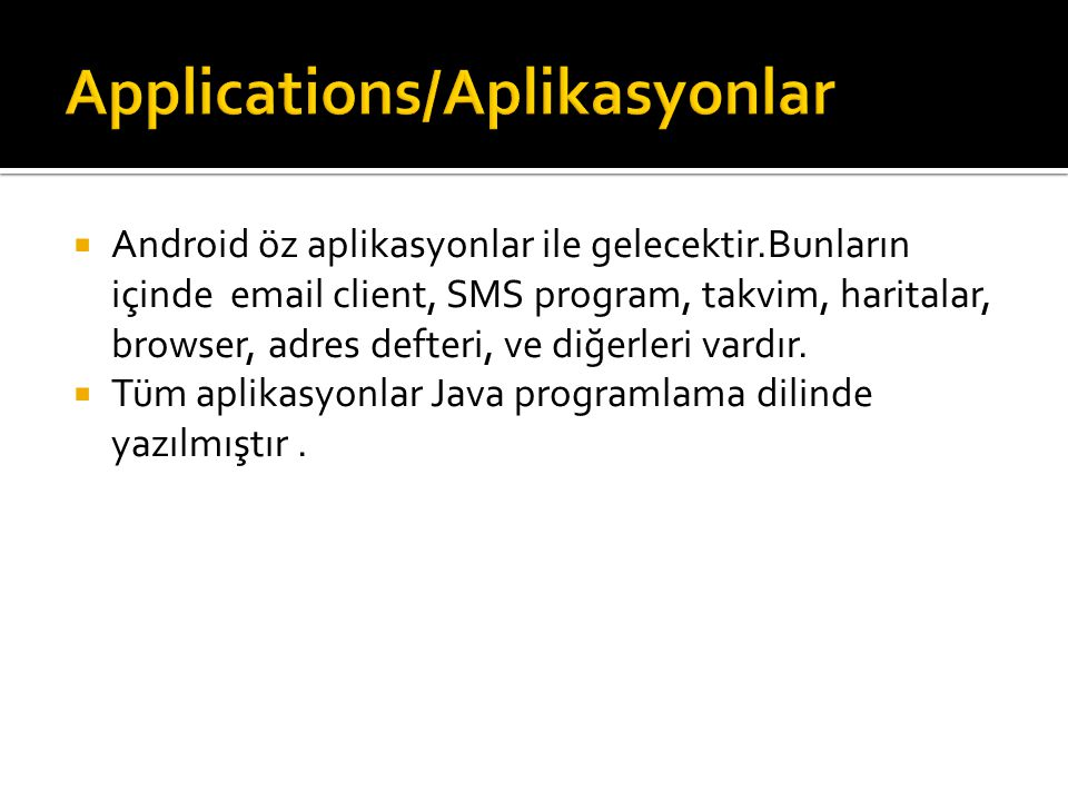 Applications/Aplikasyonlar