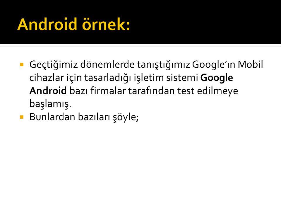 Android örnek: