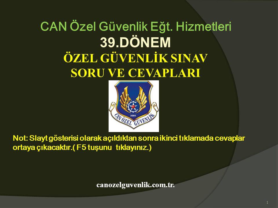 CAN Özel Güvenlik Eğt. Hizmetleri canozelguvenlik.com.tr.