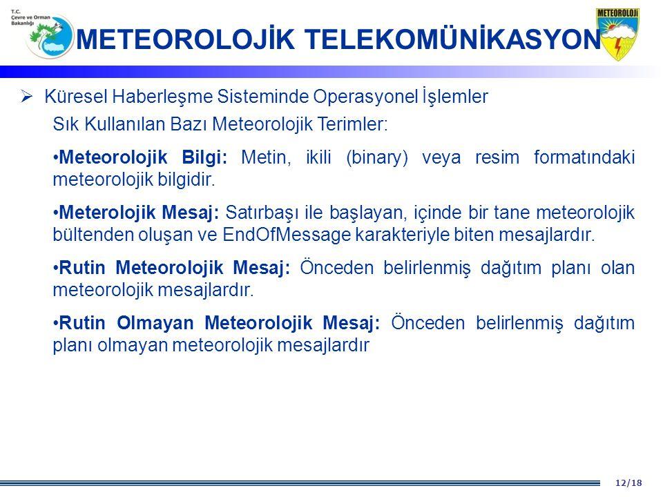 METEOROLOJİK TELEKOMÜNİKASYON