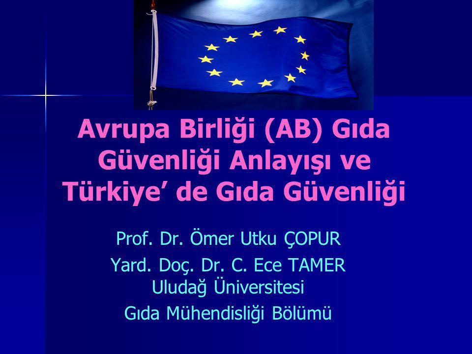 Avrupa Birliği (AB) Gıda Güvenliği Anlayışı ve Türkiye' de Gıda Güvenliği