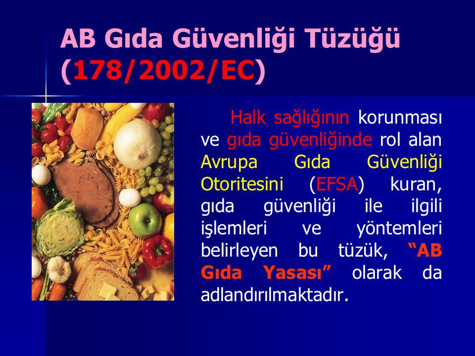 AB Gıda Güvenliği Tüzüğü (178/2002/EC)