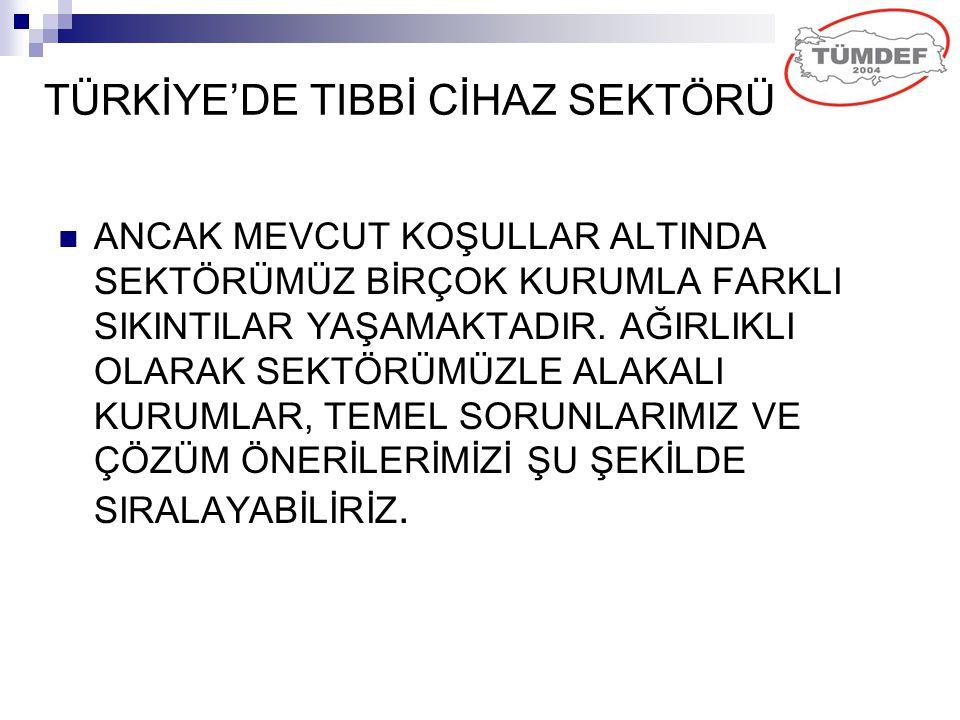 TÜRKİYE'DE TIBBİ CİHAZ SEKTÖRÜ