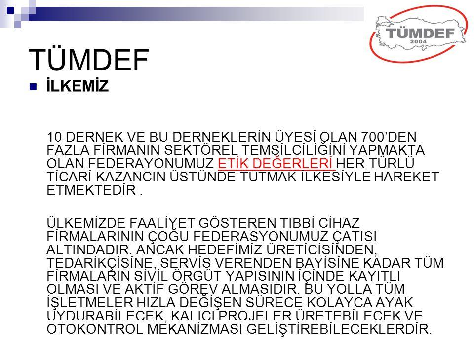 TÜMDEF İLKEMİZ.