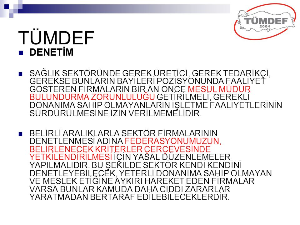 TÜMDEF DENETİM.