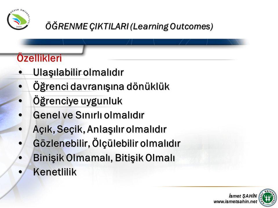 ÖĞRENME ÇIKTILARI (Learning Outcomes)