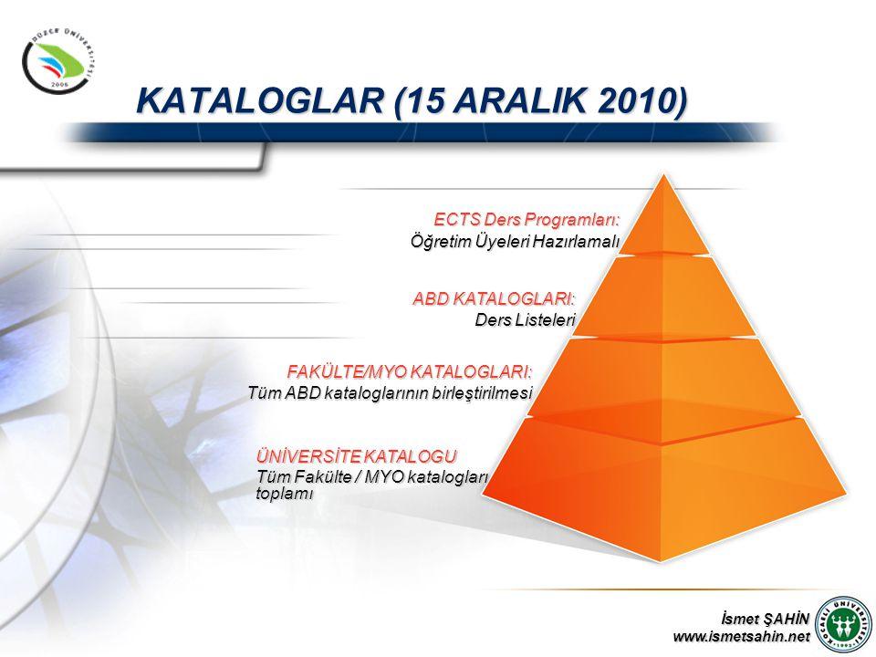 KATALOGLAR (15 ARALIK 2010) ECTS Ders Programları:
