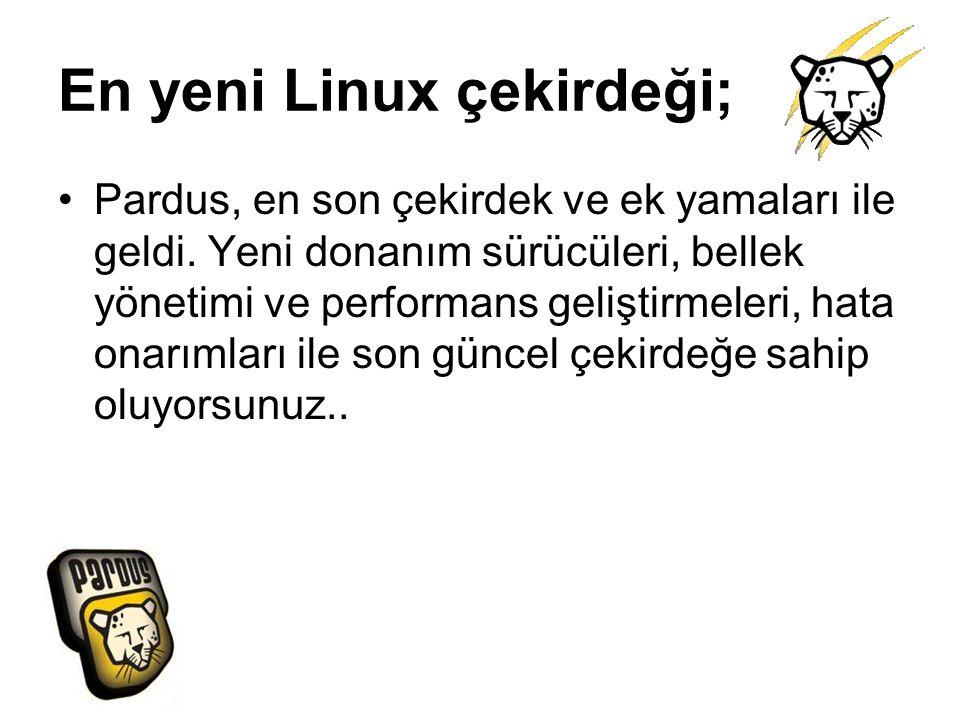 En yeni Linux çekirdeği;