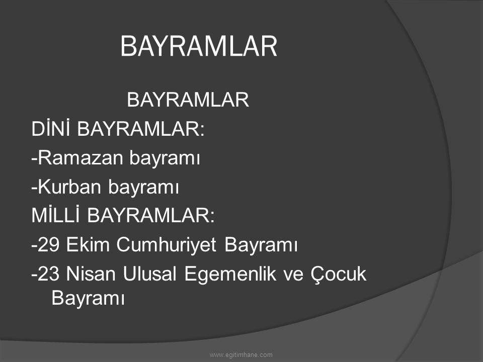 BAYRAMLAR
