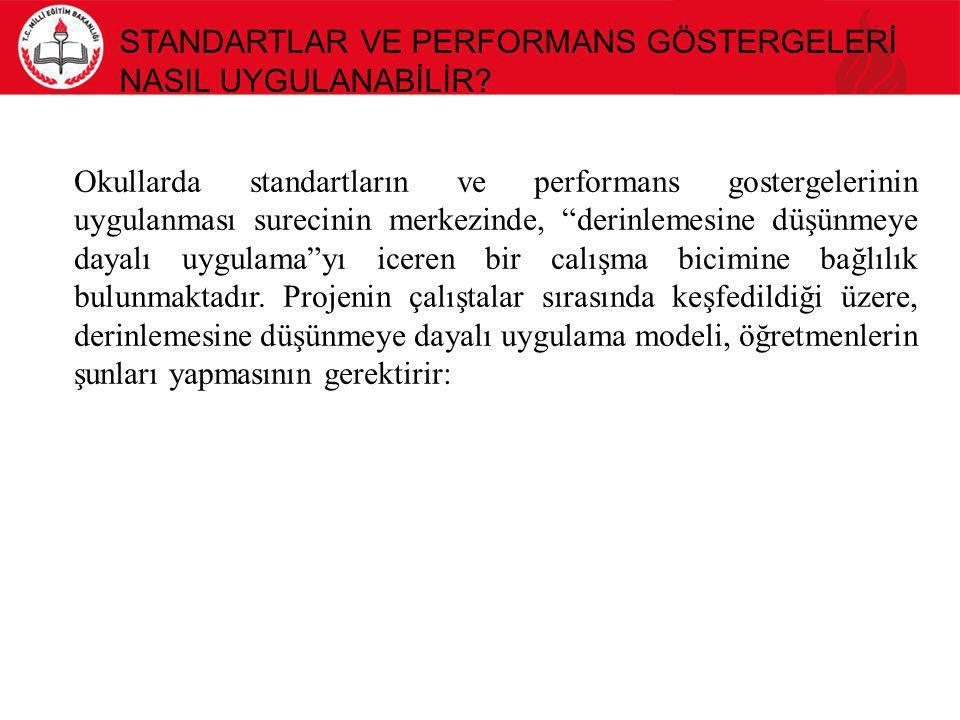 Standartlar ve Performans Göstergelerİ NasIl Uygulanabİlİr