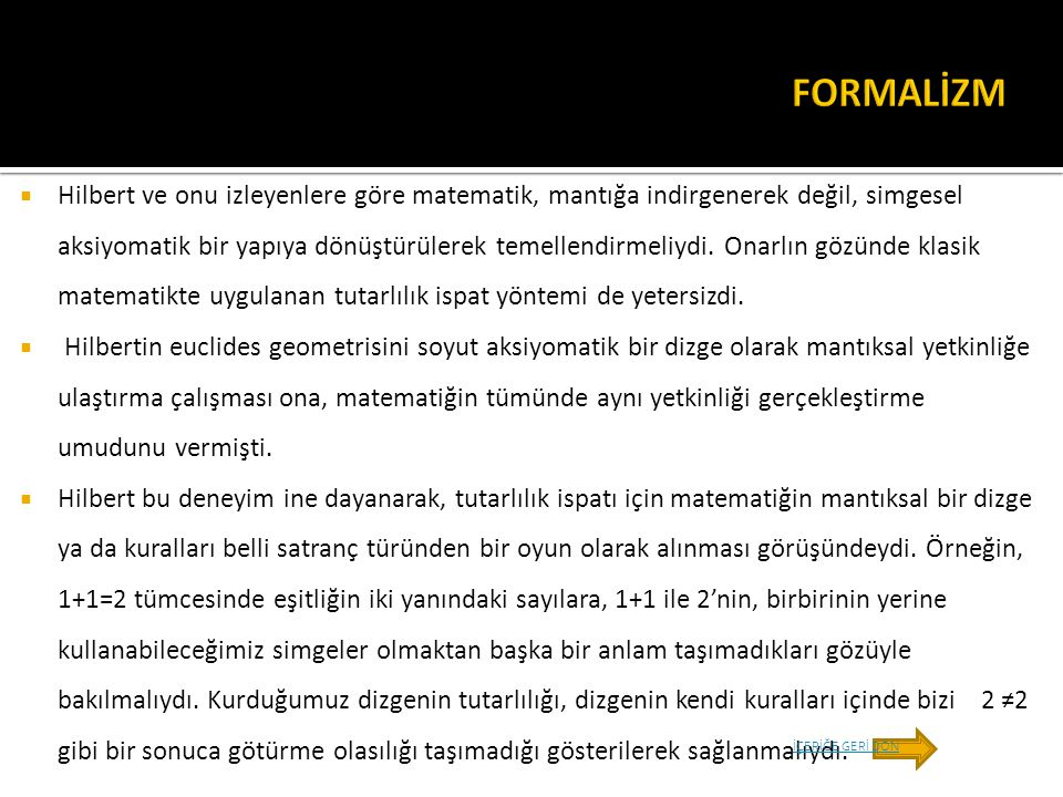 FORMALİZM