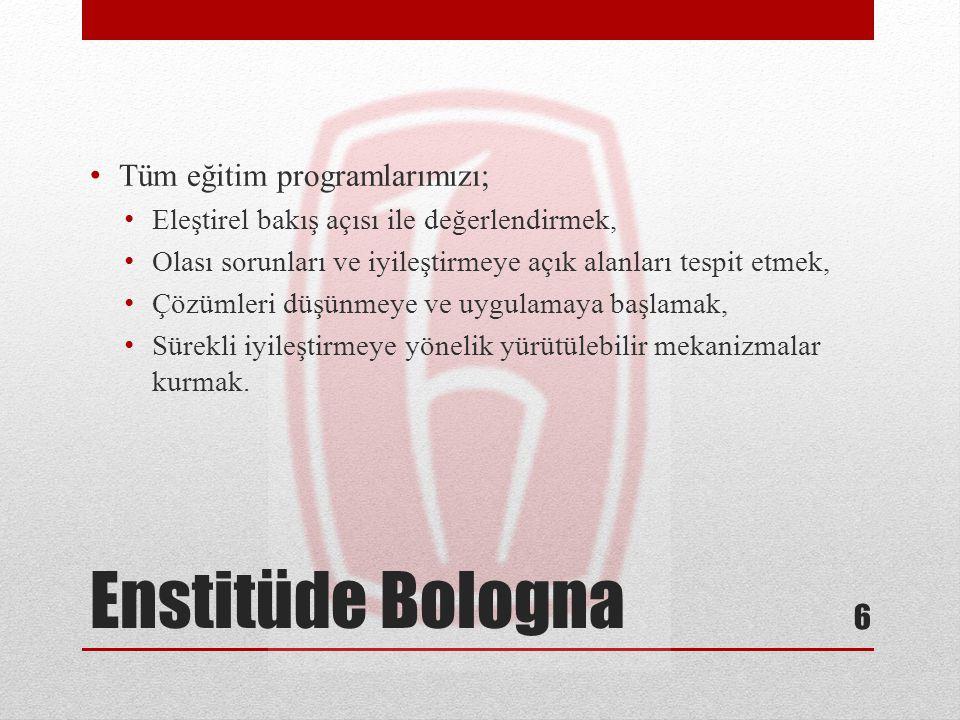 Enstitüde Bologna Tüm eğitim programlarımızı;
