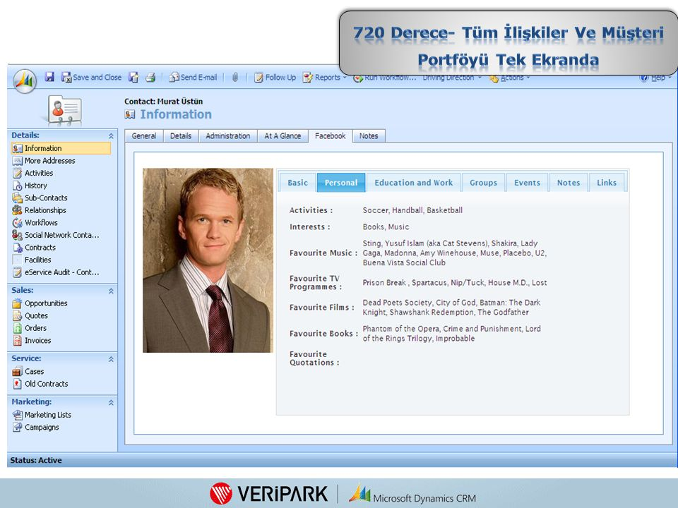 720 Derece- Tüm İlişkiler Ve Müşteri Portföyü Tek Ekranda