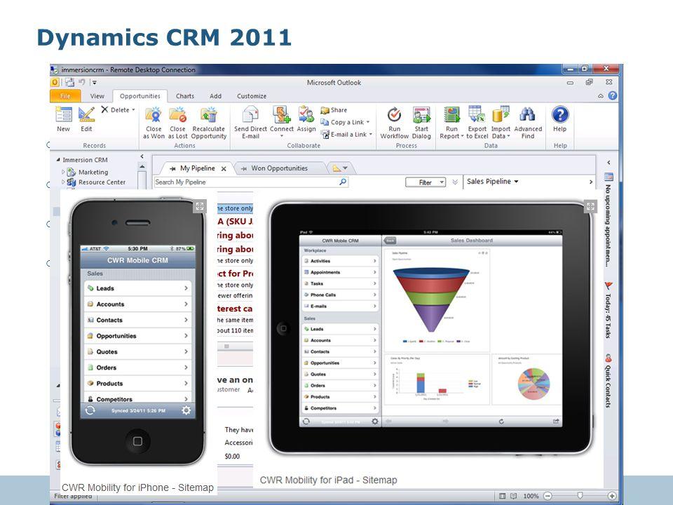 Dynamics CRM 2011 Kullanıcı dostu ve gelişmiş önyüz
