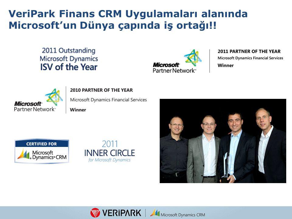 VeriPark Finans CRM Uygulamaları alanında Microsoft'un Dünya çapında iş ortağı!!